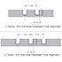 Individual Recessed Floor Alignment Guide Size Dimensions