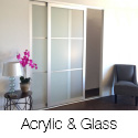 Acrylic And Glass Room Dividers Wall Systems