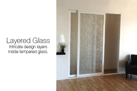 Layered Glass Room Dividers