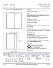 Wood Room Dividers Specification Sheet